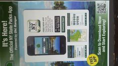 New York State Parks app. Success. Links directly to iTunes store. Sorry, no Android for New Yorkers!