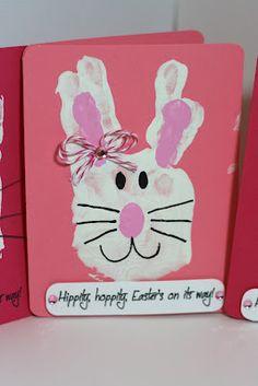 Rock Paper Cricut: Bunny Handprint