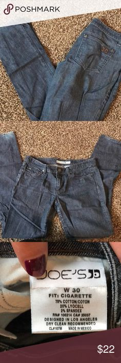 Joe's jeans Fit: cigarette  Size: 39 Color: dark blue with a metallic like finish Joe's Jeans Jeans Boot Cut