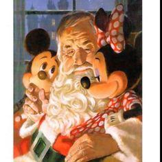 Mickey and Minnie with Santa