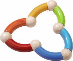Color Snake Wooden Grasping Toy and Teether