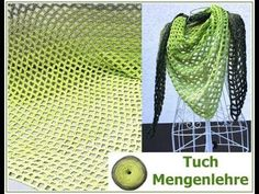 Tuch Mengenlehre pattern by Veronika Hug (Woolly Hugs) Crochet Poncho Patterns, Easy Knitting Patterns, Crochet Shawl, Easy Crochet, Crochet Hooks, Knit Crochet, Simply Crochet, Colored Rope, Learn How To Knit