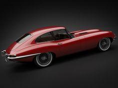 1961 jaguar e-type 3 8 coupe 3d model max obj 3ds fbx lwo lw lws 12