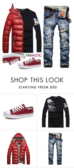 """""""Newchic ~men's wear"""" by gabygirafe ❤ liked on Polyvore featuring men's fashion, menswear, chic, New and newchic"""