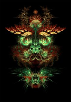 fractal art | Visionary Fractal Art Dragon