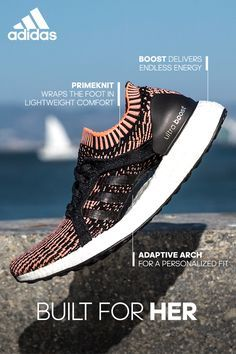 The all-new Women's #UltraBOOSTX fuses our best design elements to create a superior running shoe. It's full length BOOST midsole, Primeknit upper, and adaptive arch support come together to give you endless energy and sock-like comfort.
