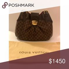 Authentic Louis Vuitton Damier Sistina Bag Price: $1450- (Retailed For $2880) Size: GM  Condition: Great, Gently Used, Dust Bag Included; Note: Pictures Show Slight Normal Wear From Use! #ThriftyLi #style #louisvuitton #sistinabag #lv #luxuryfashion #stylish #thriftyli #shop #buy #fashion #style #consignment #bags Louis Vuitton Bags
