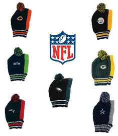 NFL Pet Gear Dog Knit Hats multiple teams SM-MD-LG  LEP Pet 0bce66243