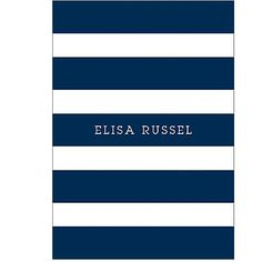 Personalize 2015-2016 Navy Stripes Custom Planner | Paper Source