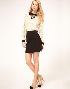 ASOS Mini Skirt with Buckle Waist - StyleSays