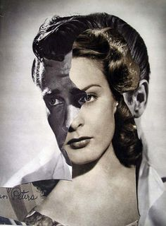 Collages in Rotterdam; John Stezaker, Film Portrait (She II), Collage, x cm A Level Photography, Experimental Photography, Artistic Photography, Art Photography, Collage Portrait, Collage Art, Photomontage, John Stezaker, A Level Exams