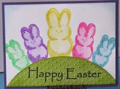 Rainbow Bunny Peeps! - Just For Fun Rubber Stamps