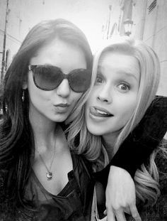 Nina Dobrev and Claire Holt