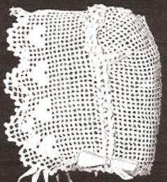 Vintage Antique Baby Cap Hat Bonnet Crochet Pattern SweetheartBB