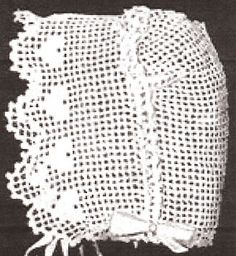 Vintage Antique Baby Cap Hat Bonnet Crochet Pattern SweetheartBB