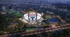 In Her Defense: Zaha Hadid Launches Salvage Operation for Tokyo 2020 Olympic Stadium - Architizer Zaha Hadid Design, Zaha Hadid Architects, 2020 Olympics, Tokyo Olympics, Summer Olympics, Zaha Hadid Obras, Stadium Architecture, Building Architecture, Arquitetura