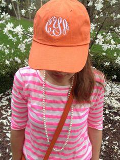 @Marley Medema Lilly Monogrammed hat.