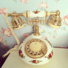 Floral Antique Phone