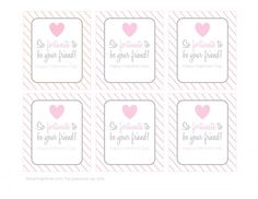 "So ""fortunate"" to be your friend Valentine -adorable!! Download your free printable at iheartnaptime.com #ValentinesDay"