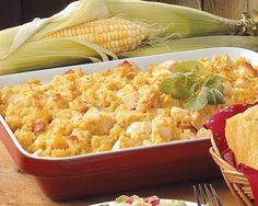 Cornbread Chicken Bake, this might be good with gravy