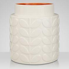 Buy Orla Kiely Abacus Ceramic Vase, Cream/Orange, Large Online at johnlewis.com £25