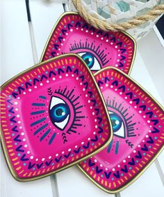Part of our new home decor range. Gorgeous handmade/ hand painted clay eye dish.  Measurements: 12.7cm diameter Available on our website at www.bluematitrend.com ✨✨✨✨✨✨✨✨✨✨✨✨