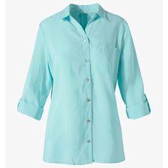 For the Jaeger Aqua Linen Shirt Semi Annual Sale, Boat Neck Tops, Royal Fashion, Aqua, Turquoise, Shop Now, Tunic, Pullover, Long Sleeve