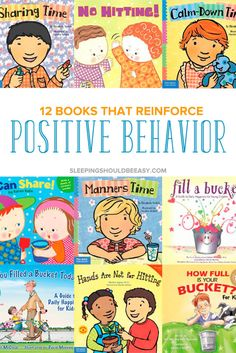 Use positive reinforcement to help improve your child's behavior. Discover 12 children's books that reinforce positive behavior and discuss their emotions. Even includes a FREE Read Aloud Book List hundreds of favorite selections to read aloud with your kids! #childrensbooks