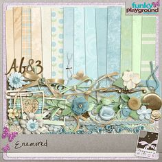 Ohh so pretty....Enamored Digital Scrapbooking kit by Farynar's Wings at Funky Playground.