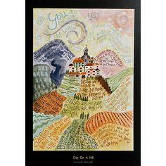 Hannah Dunnett card - City On A Hill. Beatitudes.