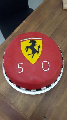 Ferrari Torte Dessert, Bat Signal, Superhero Logos, Ferrari, Drinks, Food, Baking Cupcakes, Drinking, Beverages