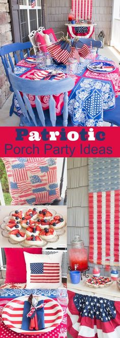 Patriotic Fourth of July Party Ideas, Recipes and Decorations