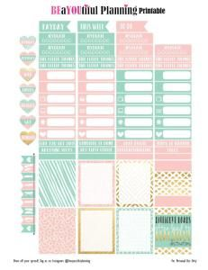 freebie pastel pink and mint, baby ping and seafoam green