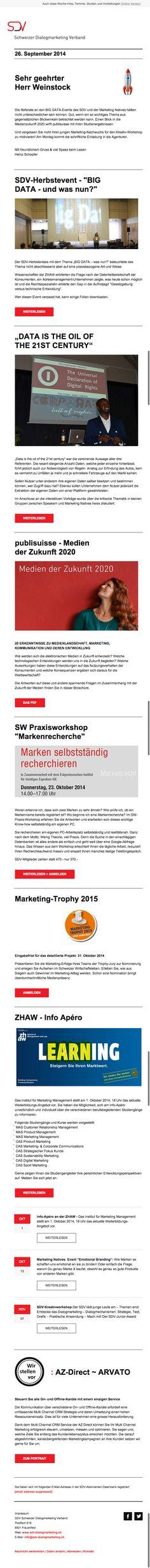 #SDV Schweizer Dialogmarketing Verband
