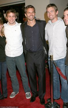 Paul Walker family from left to right. Cody, Caleb and Paul Walker. Cody and Caleb have stepped in to fill Paul's shoes, a big spot to fill and life altering Paul Walker Family, Cody Walker, Rip Paul Walker, Beautiful Soul, Beautiful People, Beautiful Family, Paul Walker Pictures, Interview, Fast And Furious