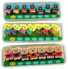 21 Pcs, Kawaii Bears, Elephants, & Lions Erasers, Collectable, Limited Quantity by Kawaii. $6.99. Kawaii Eraser. Kawaii Erasers. Which included Bears, Elephants & Lions.  There are 7 pieces in each kind animal. Packed in a fine plastic case.  The price is for three animals in three cases. Total: 21 piece erasers.  Very fine quality. Detailed. Limited Edition. Save 36% Off!