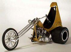 Amazing 3 Wheelers - #searchlocated - Gold-ish yellow 70s Shovelhead trike