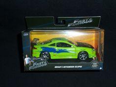 Jada Fast and Furious Brian's Mitsubishi Eclipse 1:32 Scale Die-Cast Paul Walker #JadaToys #Mitsubishi