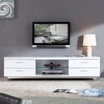 """B-Modern - Promoter 79"""" High-Gloss White TV Stand - BM-120-WHT  SPECIAL PRICE: $1,239.00"""