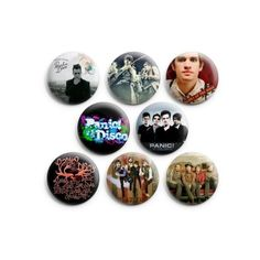 Panic At The Disco Music Band Pin Badges Button, 1.25 inches, 8pcs,... ($4.30) ❤ liked on Polyvore featuring jewelry, brooches, pin jewelry, disco jewelry, button brooch, button jewelry and pin brooch