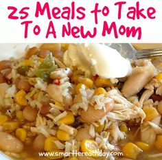 Always stuck trying to think of a yummy, healthy meal to bring a friend?  Check out these REAL-FOOD, yummy meal ideas! Includes many gluten-free and dairy-free meal options!  Must-pin for down the road!
