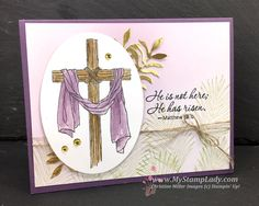 Plum Easter Message by cmstamps - Cards and Paper Crafts at Splitcoaststampers