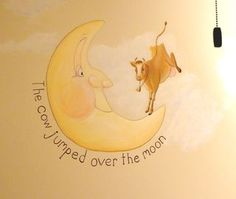 I'll see if cliff can paint this on the wall Nursery Rhymes, Nursery Murals, Moon Nursery, School Murals, Getting Ready For Baby, Chicago Art, Mother Goose, Chicago Tribune, Mural Painting