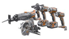 RIDGID Gen5X - The new system includes a hammer drill, circular saw, impact driver, reciprocating saw & more. They all feature high capacity 4.0 batteries & LED right where you need it.