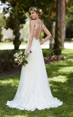 6194 Illusion Lace Wedding Dress by Stella York Lace Wedding Dress, Wedding Dresses Plus Size, New Wedding Dresses, Tulle Wedding, Lace Dress, Gown Dress, Lace Corset, Tulle Lace, Wedding Reception