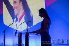 business-awards-event-photography | Dame Sarah Storey hosting the Awards for Excellence at Manchester Town Hall | Commercial Photography North West