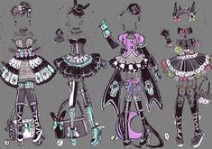 2,3 OPEN GothOutfits by Guppie-Adopts.deviantart.com on @DeviantArt