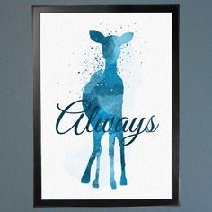 Harry Potter Patronus Always Watercolor Fine by WatercolorFontaine