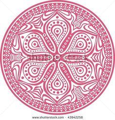 mandala flower, circle lace
