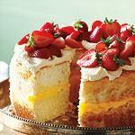 Angel Food Cake With Lemon Curd and Mascarpone Cream